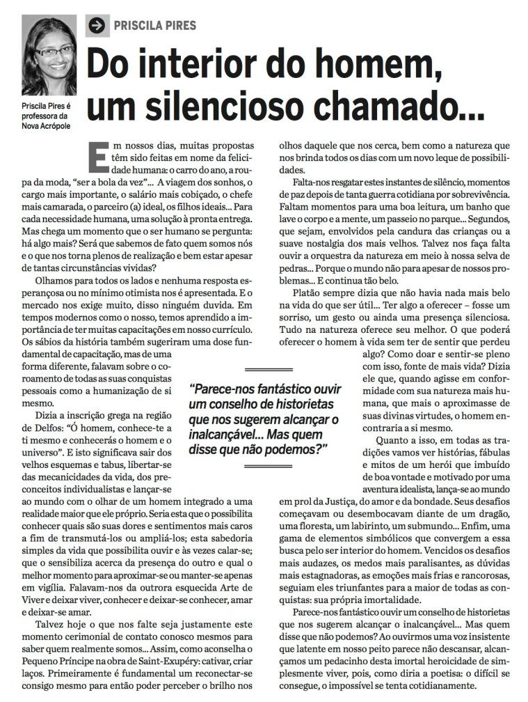 Artigo Professora Priscila