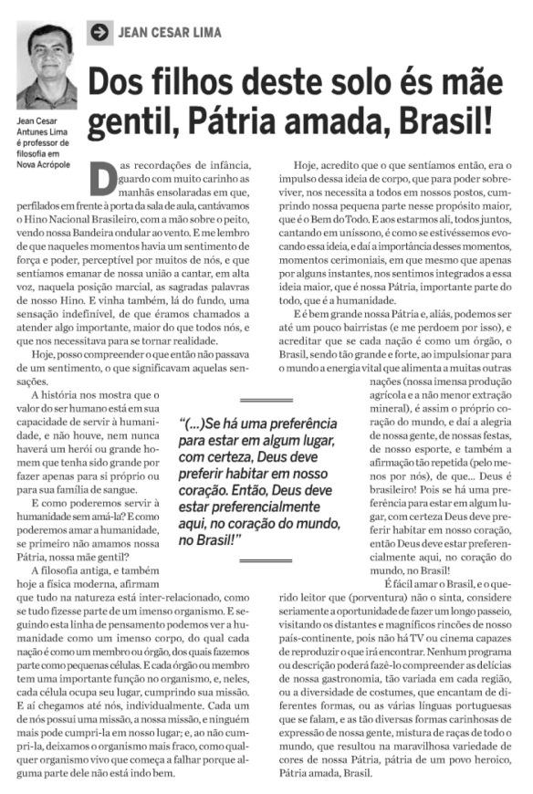 Artigo Filosófico Professor Jean César